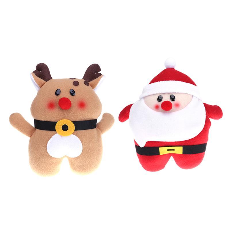 Santa Claus Christmas Moose Plush Doll Toy Snowman Hand