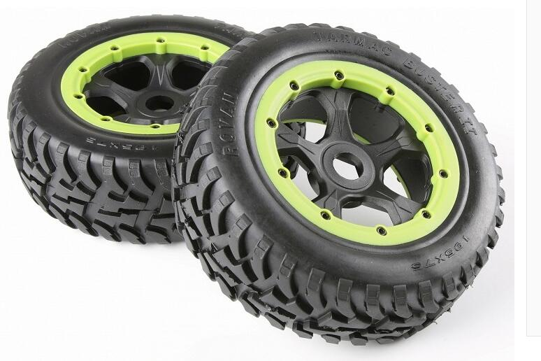 Front off-road Wheel Tire Rim set fit HPI KM Rovan baja 5T 5SC king motor truck front sand buster tyres tire set with nylon wheel 2pcs for baja 5b hpi km rovan