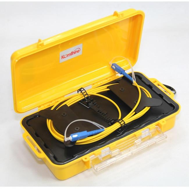 Komshine SC/UPC SC/UPC 9/125 SM OTDR Launch Cable Box ,Fiber Ring ,OTDR dead zone Eliminator 500M-in Fiber Optic Equipments from Cellphones & Telecommunications