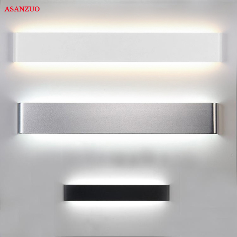 Rechthoek Led Wandlamp Bedside Sconces 4W8W14W18W Licht Lamp 110V 220V Woonkamer Badkamer Spiegel Licht Indoor Gangpad