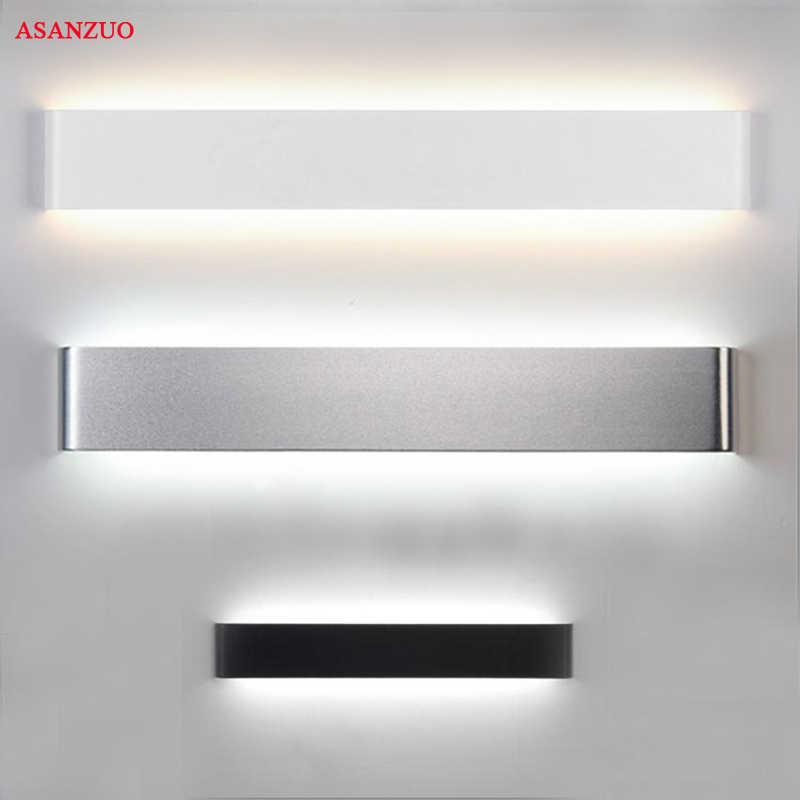 Retângulo conduziu a lâmpada de parede arandelas cabeceira 4w8w14w18w luz da lâmpada 110 v 220 v sala estar espelho do banheiro luz corredor interior