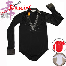 Boy's Ballroom / Latin Dance Dress Red/White/Black Child Clothes For Dancing Practice/Professional/Performance/Stage Wear Tops