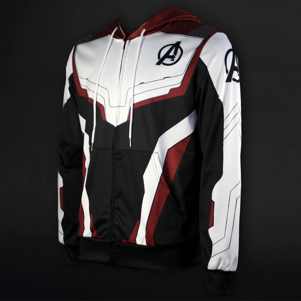 Men Women Avengers Endgame Realm Cosplay Hoodies 3D Pullover Sweatshirt Quantum Realm Superhero Zipper Jacket Costumes6