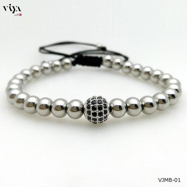 2016 New Women Waterproof Bead Bracelet Trendy Zircon Beads Braiding Bracelet High-end Adjustable Size Beads Bracelet For Watch