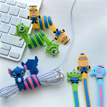Cartoon Earphone Cable Wire Cord Organizer Holder Winder for Phone Tablet MP3 MP4 MP5 Computer Headphone winding thread tool
