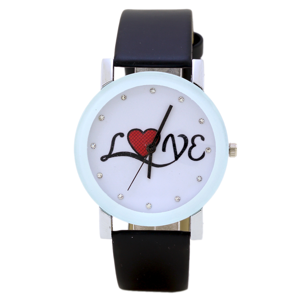 Fashion Couple Watch Ladies Luxury Rhinestones Casual Leather Analog Quartz Watches Watch love Dial Relogios Clock Hour Gift