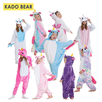 Baby Girls Pajamas 2018 Animal Unicorn Stars Rainbow Cartoon Boys Pajama Set Autumn Winter Warmer Casual Cute Children Sleepwear