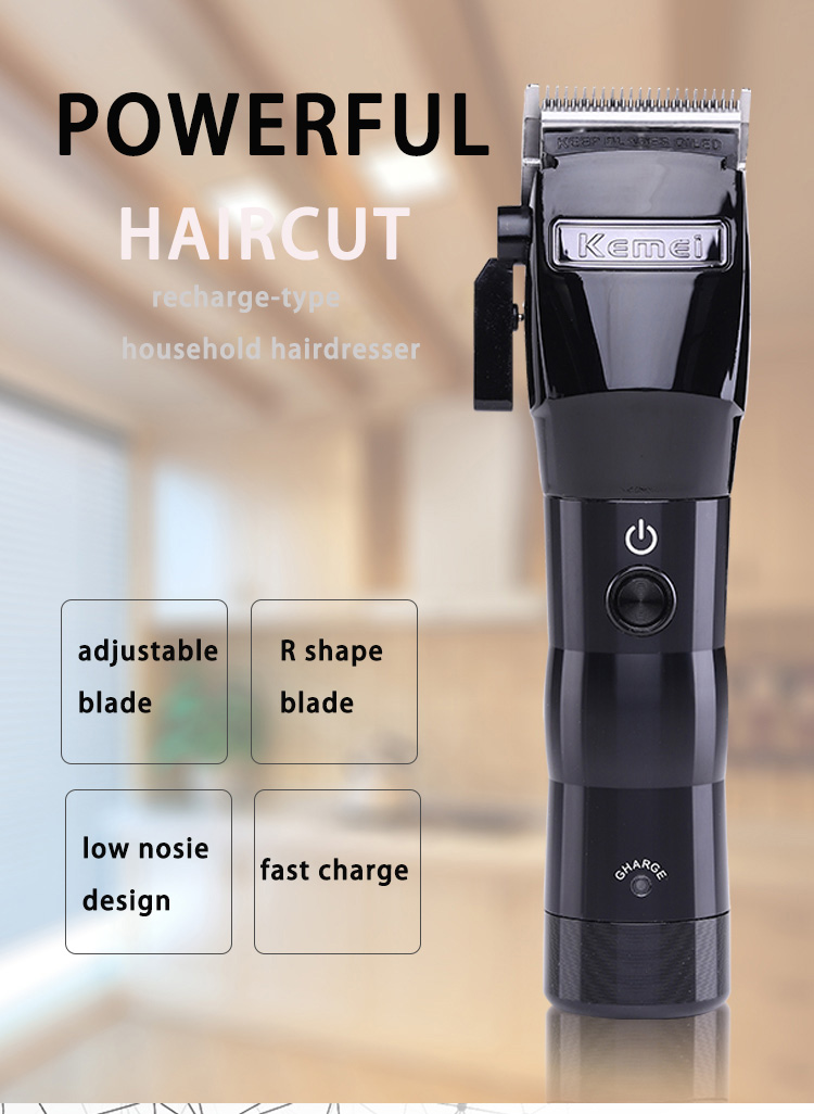 cortar cabelo sem fio máquina corte aparador kemei ferramenta estilo