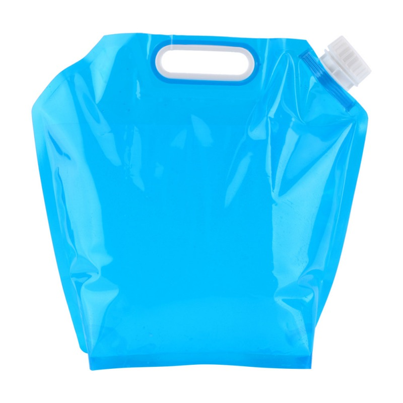 5L Foldable Water Bag PE Tasteless Safety Seal Portable Drinking Water Container Survival Storage Bag For Camping Hiking BBQ