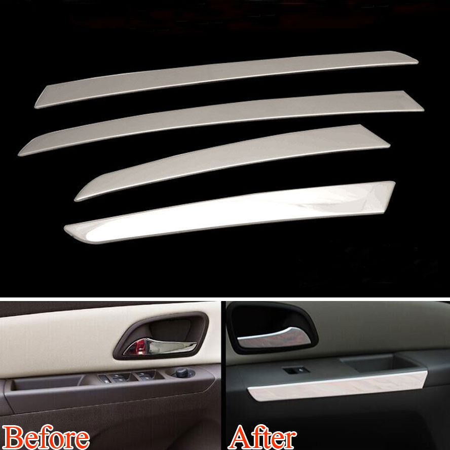 car interior door armrest sequins trim door panel cover strips styling sticker fit for chevrolet. Black Bedroom Furniture Sets. Home Design Ideas