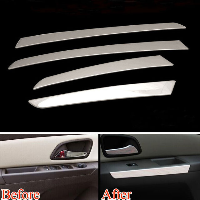 Car Interior Door Armrest Sequins Trim Door Panel Cover Strips