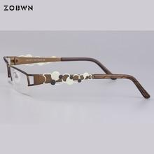 a04ce7093 wholesale Fashion Women eyeglasses half rim Glasses frame Men Eyewear round  decoration marca Glasses Women Optical