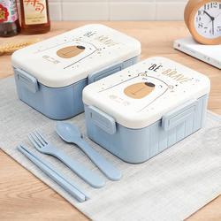 Tuuth 귀여운 만화 도시락 전자 레인지 식기류 식품 저장 용기 어린이 어린이 학교 사무실 휴대용 도시락 상자