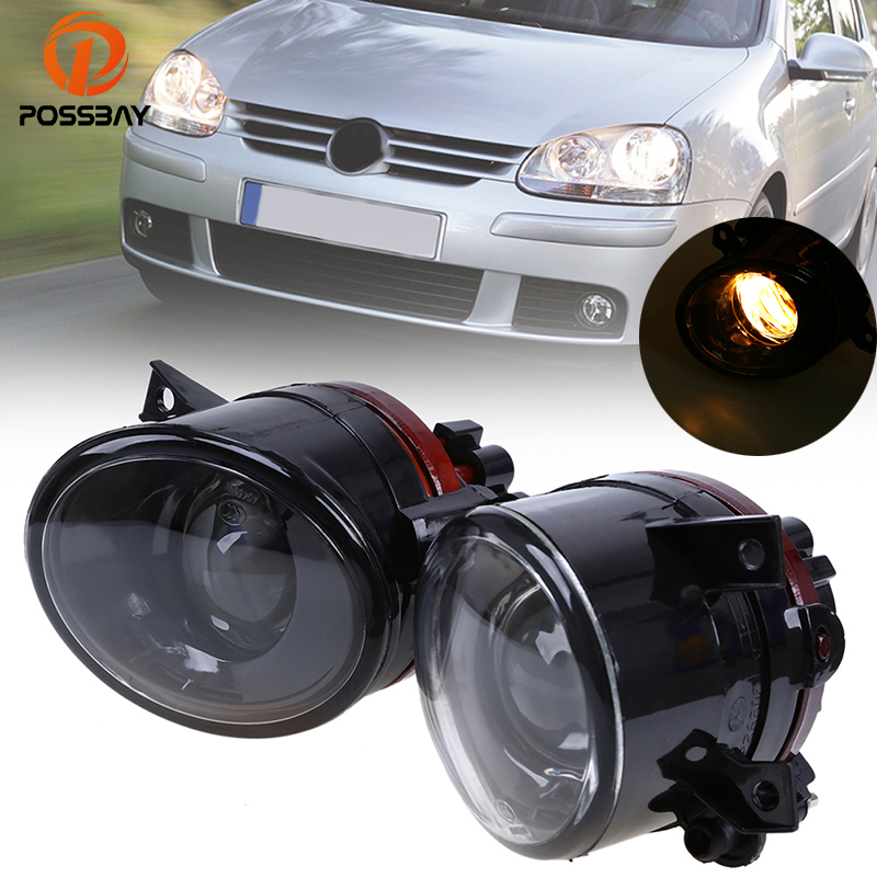POSSBAY Halogen Foglamps For VW Jetta/Golf MK5 Fog Lights For VW Golf Plus 2005 2006 2007 2008 2009 9006 12V 55W Bulbs Car Light
