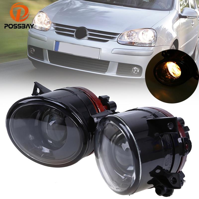 POSSBAY Halogen Foglamps For VW Jetta/Golf MK5 Fog Lights For VW Golf Plus 2005 2006 2007 2008 2009 9006 12V 55W Bulbs Car Light