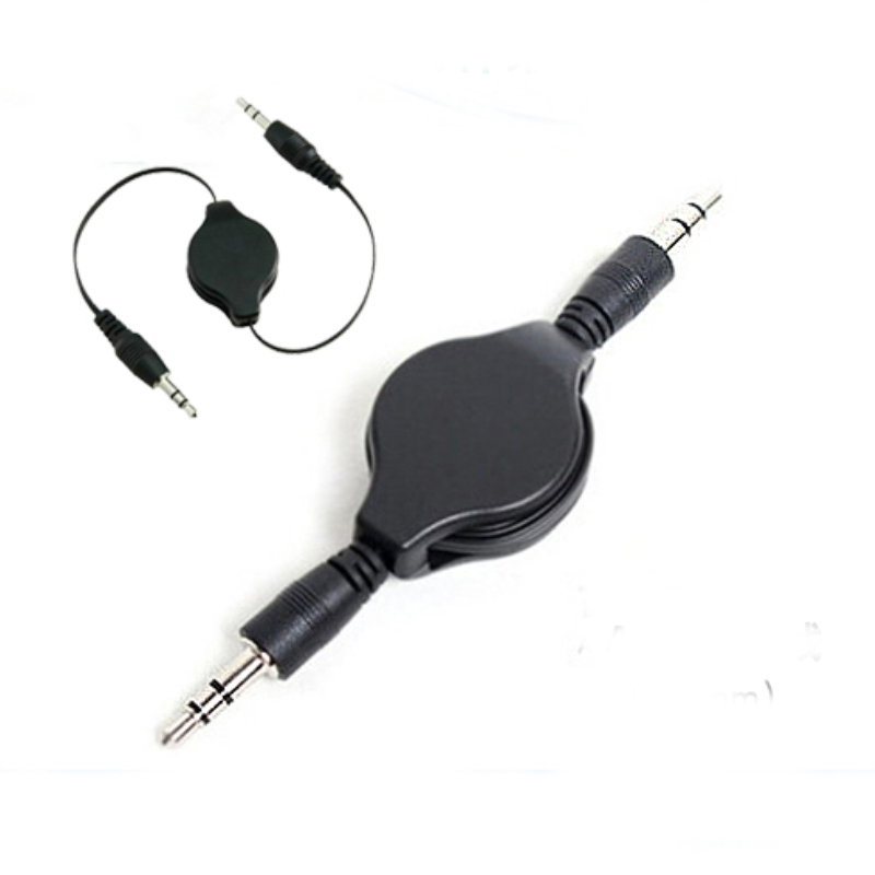 Black 3.5mm Male to Male jack audio stereo Extension lead for Mobiles PC Car Mp3