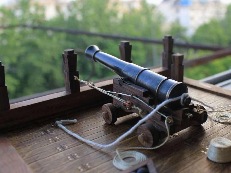 classic Warship model cannon assemble Scale 1/30 The deck cannon model kit