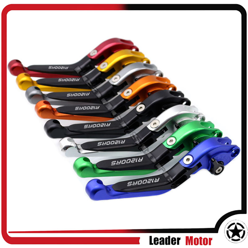 For BMW R1200RS R 1200RS 2015 2016 2017 Motorcycle Accessories Folding Extendable Brake Clutch Levers 20 Colors LOGO R1200RS немецкий мотоцикл bmw r 12 6142