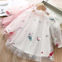 01ccd7c0ef0 Unicorn Dress for Girls Summer Frock Lace Princess Tutu Birthday Robe Fille  Kid Costume 2 3