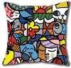 Funny Artistic Psychedelic Britto Arts Romero Luxury Print Square Pillowcase Throw Pillow Sham Nice Decorative Pillow