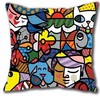 Funny Artistic Psychedelic Britto Arts Romero Luxury Print Square Pillowcase Throw Pillow Sham Nice Decorative Pillow
