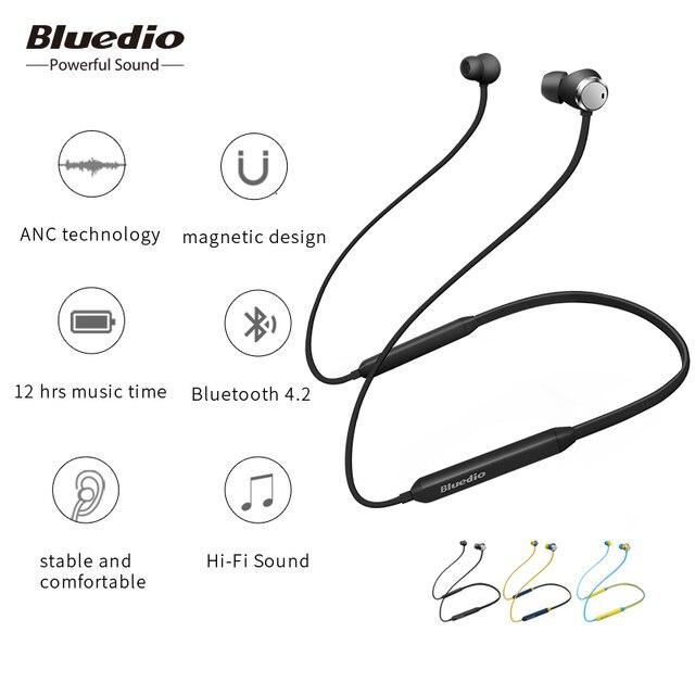 Bluedio TN беспроводные Bluetooth наушники с шумоподавлением шейным диапазоном BT4.2 спортивные наушники с мощным басом для сотового телефона