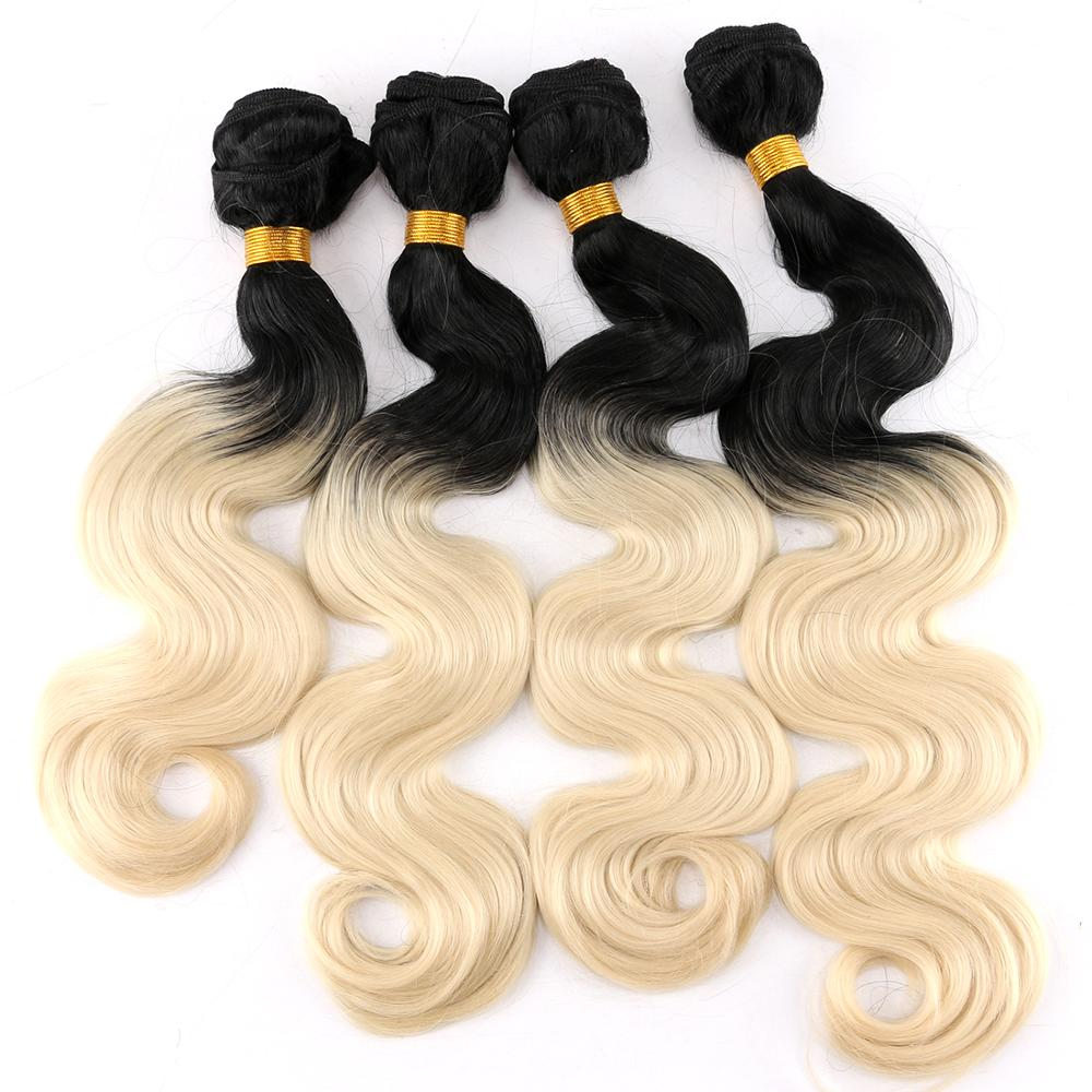 T1B/613 Two tone ombre color Body wave hair 100 gram one piece synthetic hair