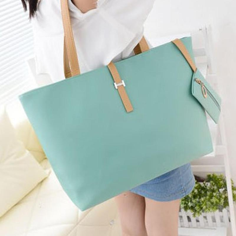 Latest Fashion Handbag Lady Shoulder Bag Tote Purse PU Leather Women Messenger Elegant Women Solid Color PU Leather Handbag(China)