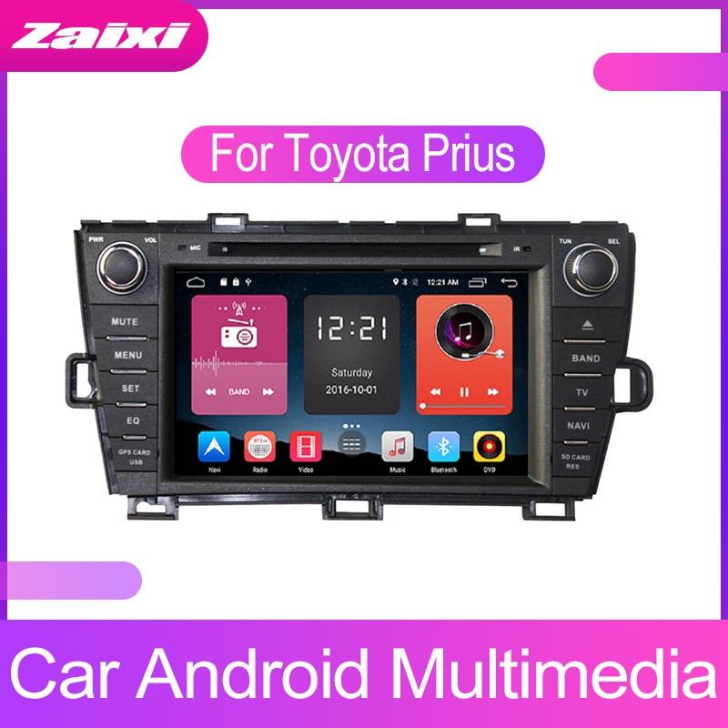 ZaiXi Android Car Multimedia player 2 Din WIFI GPS Navigation Autoradio For Toyota Prius 2009~2015 Radio FM Maps BT