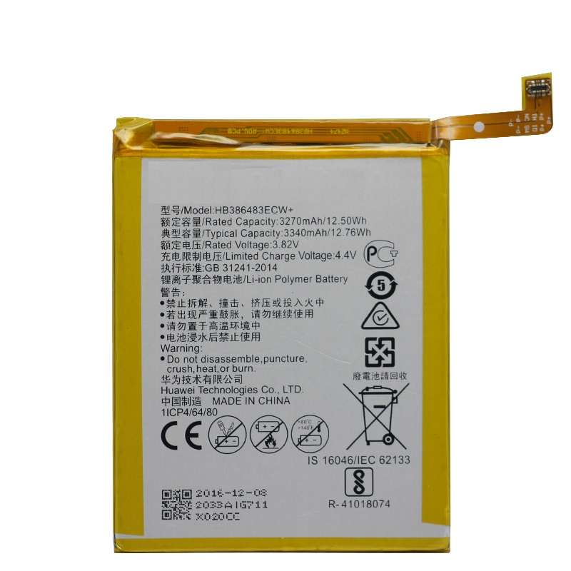 Replacement Phone Battery HB386483ECW For Huawei Honor 6X G9 Plus Maimang 5 MLA-AL00 MLA-AL10 G9Plus 3340mAh