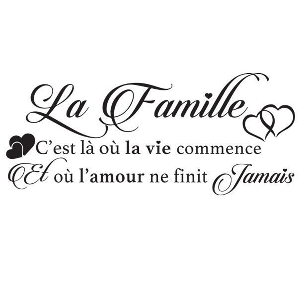 Moisture Proof Familly Love Heart Background Wall Stickers Poster