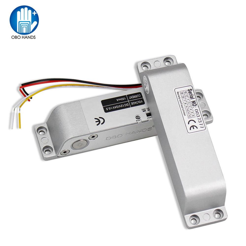 OBO HANDS DC 12V Fail Safe Electronic Electric Bolt Door Lock  For Wooden Door Access Control System Waterproof Metal Aluminum