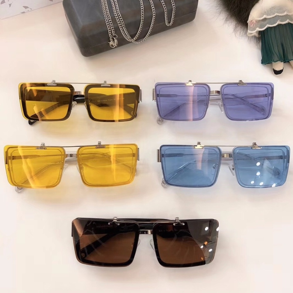 Vintage quality character square sunglasses imported acetate frame Nylon lens clips on fashion original box case free shiping