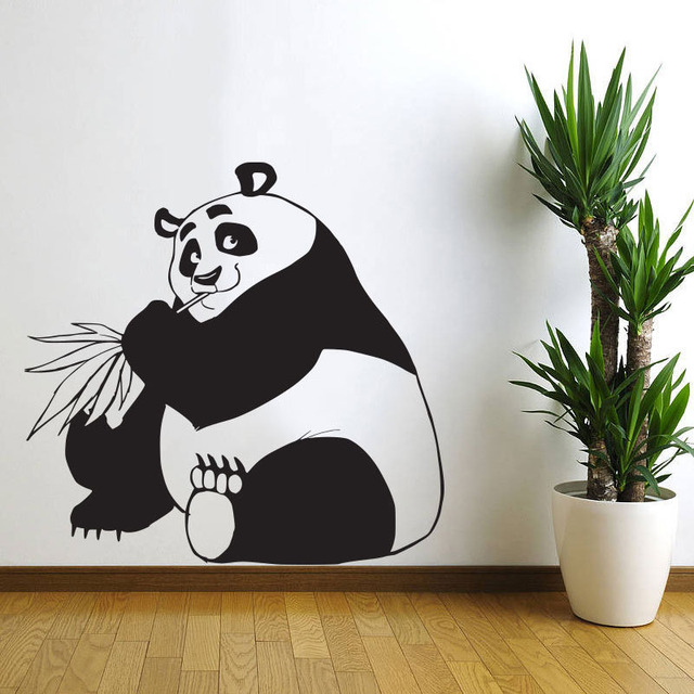 China Panda Wall Stickers Decorative Vinyl Stickers Home Decor Removable  Nursery Wall Decals For Kids Part 83