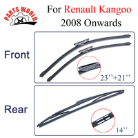 Combo Silicone Rubber Front And Rear Wiper Blades For Renault Kangoo 2008 Onwards Windscreen Wipers Car