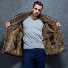 2019 new arrival winter high quality warm mink fur liner jacket men,mink collar coat men