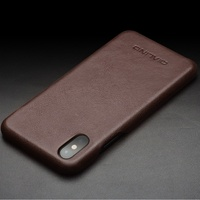 QIALINO Cowhide Leather Phone Case For IPhone X Coated PC Cover For IPhone X Ten 5