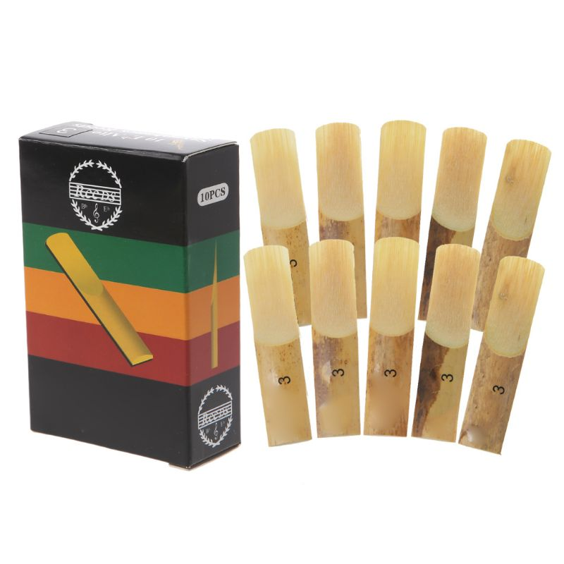 10pcs Eb Alto Saxophone Reeds Strength 2 2.5 3 Sax Woodwind Instrument Parts Musical Instruments