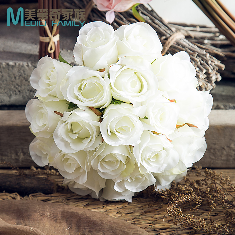 Ina roses simulation flower silk flower arrangement floral living room dining table bedroom study floral ornaments home decorati
