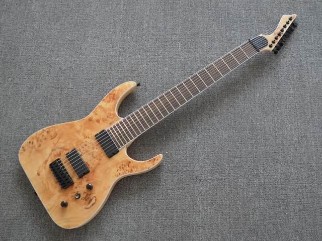 Online Shop Factory Custom Maple Top 8 Strings Blackmachine Electric