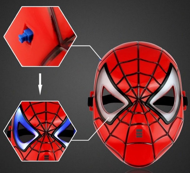 Led lumineuse spider man superman masque enfant la f te d - Masque de superman ...