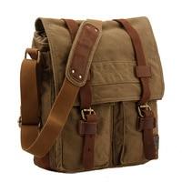 Fashion Single Shoulder Messenger Bags Canvas Vintage Men Women Solid String Messenger Bag Casual Travel Unisex Messenger Bags