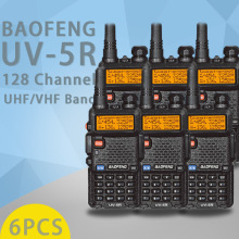 (6 PCS)Baofeng UV5R Ham Two Way Radio walkie talkie Dual-Band Transceiver (Black)