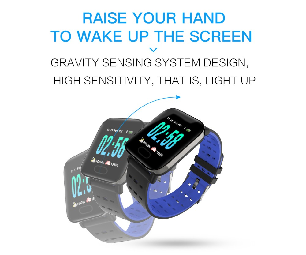 Q6 Smartwatch IP67 Waterproof Wearable Device Bluetooth Pedometer Heart Rate Monitor Color Display Smart Watch For AndroidIOS (12)