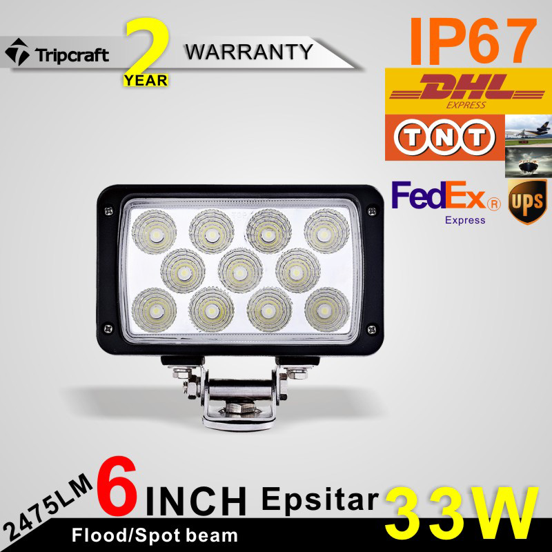 ФОТО Freeshipping!6Inch 33W Epsitars LED Work Light for Indicators Motorcycle Driving Offroad Boat Car Tractor Truck 4x4 SUV ATV Spot