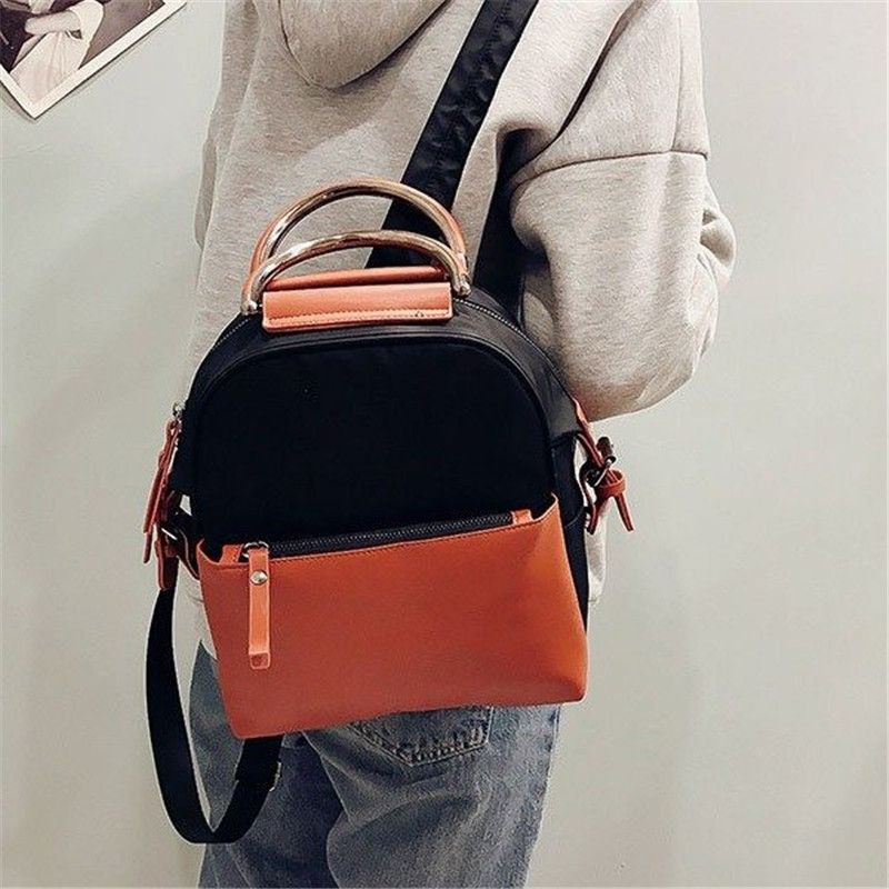 Miyahouse Fashion Panelled Color Woman Backpack High Quality Pu Leather Lady Rucksack Casual Travel Bag For Teenage Girls #2