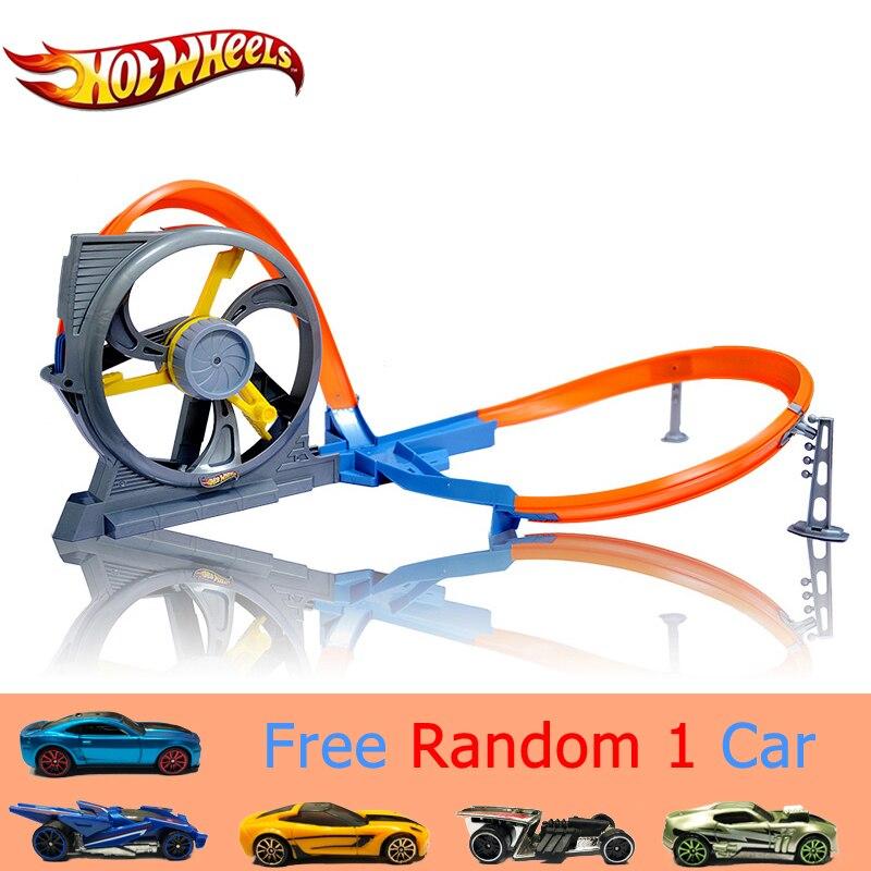 Hot Wheels Marque jouet voiture pour enfant Turbine Twister Piste Ensemble Automatique Courir Vite Carro de brinquedo DNN72 Pour Enfant de Voiture de Jouet meilleur Cadeau