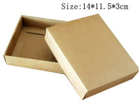 Free shipping wholesale 40pcs/lot 14*11.5*3cm Kraft Paper Packing Box Jewelry Gift Boxes thankscard packaging boxes