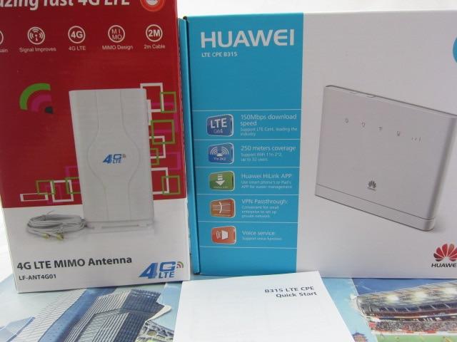 Set of Brand New Original Unlock 150Mpbs HUAWEI B315S 22 LTE CPE 4G Router 49dbi 4g