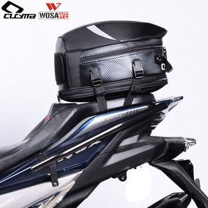 WOSAWE Cycling Tail Bags Multi functional PU Waterproof Bicycle Motorbike Helmet Bag Hard Case MOTO Rear Seat Bag Pack 55L|Bicycle Bags & Panniers| |  -
